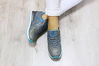 Кроссовки женские New Balance 574, материал - натуральная кожа, подошва - пена, серые
