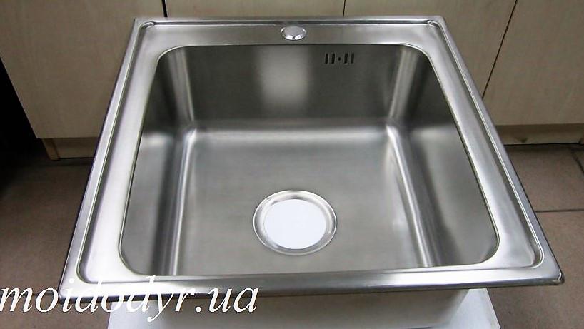 Мойка кухонная врезная из нержавеющей стали Kuchinox 500мм х 500мм х 170мм
