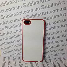 Чехол для 2D сублимации пластиковый Iphone 5/5S красный, фото 3