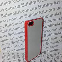 Чехол для 2D сублимации пластиковый Iphone 5/5S красный, фото 2