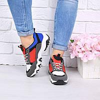 Кроссовки женские черные+красный , женская обувь