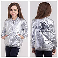 Модная и стильная куртка бомбер на девочку подростка Размеры 134, 140 ТОП продаж!