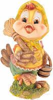 Фигура декоративная Курочка с веником