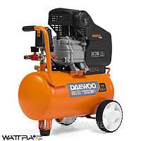 Компрессор 24 л DAEWOO DAC 24D с прямым приводом (2,5 л. с./1,85 кВт, 250 л/мин, 8 бар, 220 В,2850 об/мин)