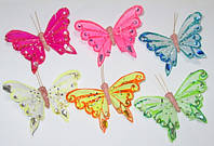 Бабочки искусственные с камнями
