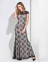 Enigma G 3035 Платье вечернее из гипюра-роза