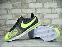 Кроссовки мужские Nike Cortez 2015 KD-10924. Черные с зеленым