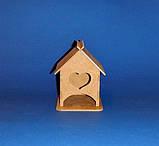 Чайный домик мини с сердечком заготовка для декупажа и декора, фото 2