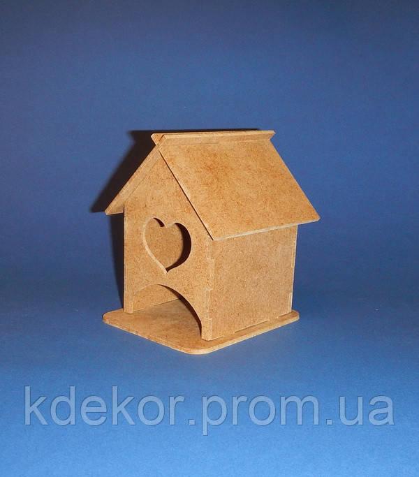 Чайный домик мини с сердечком заготовка для декупажа и декора