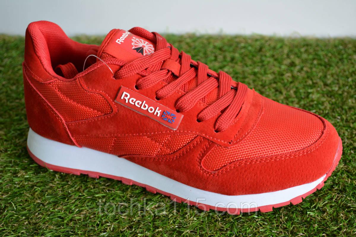 Мужские кроссовки Reebok Classic Leather Red, копия