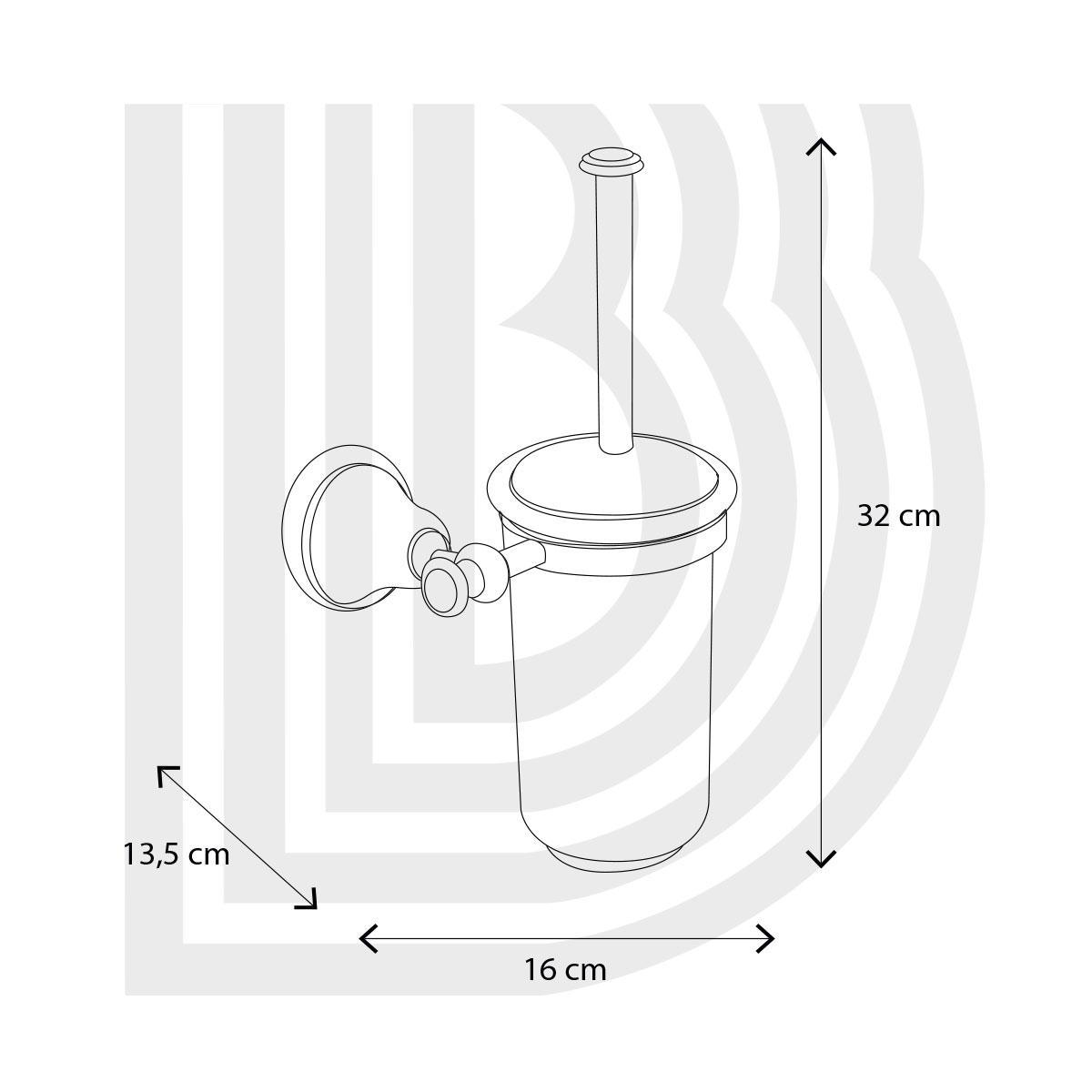 bianchi Туалетный ершик Bianchi Classic ACBCLA110000CRM