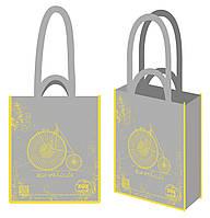 """Эко-сумка 41,5*34,5*12см """"Велосипед (серый)"""", 400013"""