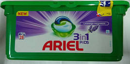 Капсулы для стирки Ariel Pods Touch of Lavander Fresh, 28 шт (Италия)