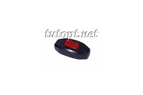 Выключатель на бра Черный с красной кнопкой DE-PA 6A 250V