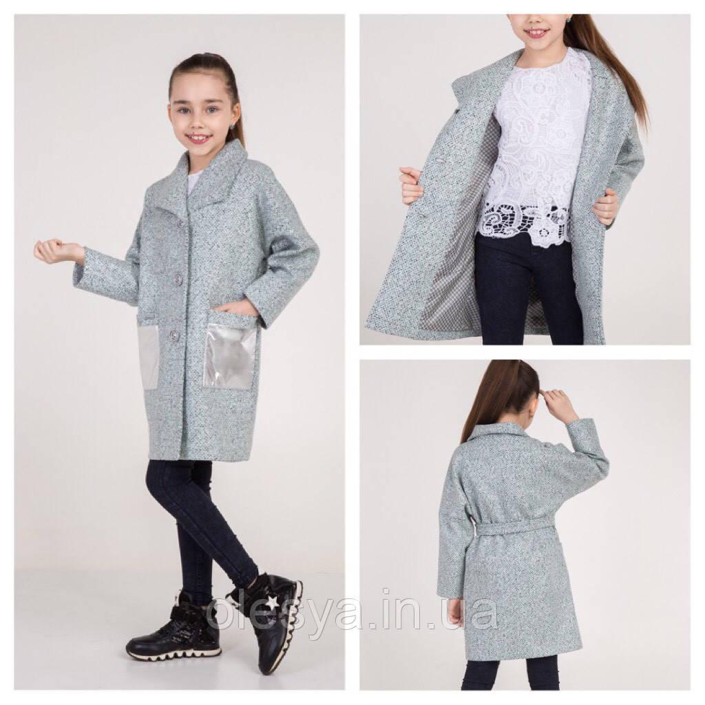 Демисезонное шерстяное пальто с напылением Sicilia Размеры 134  140 152 164 ТОП продаж!