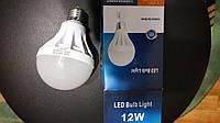 Лампа светодиодная LED E27 6500K 12W матовая ST302
