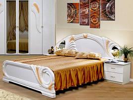 Ліжко з ДСП/МДФ в спальню Лола 1,6х2,0 з каркасом Миро-Марк