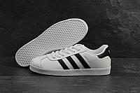 Кроссовки мужские Adidas Gazelle SD-4221 Материал натуральная кожа. Белые