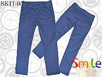Синие коттоновые брюки для мальчиков, фото 1