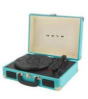 Граммофон  BUSH   ретро чемодан  голубой