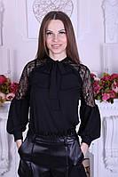 Шикарная блузка с объемными рукавами турецкого производства