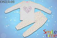 Пижама турецкая ткань для девочки р.122,128,134,140,146,152,158 SmileTime Птички, фото 1