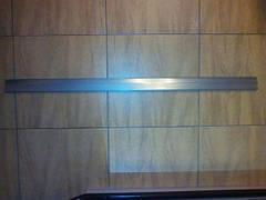 Ценникодержатели широкие серые полочные H=60 мм, L=1238 мм, TEN60