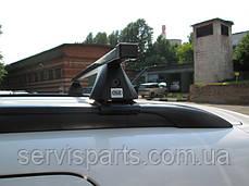 Багажник на крышу с рейлингами Cruz SR (сталБагажник на гладкую крышу ной) , фото 3