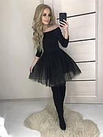 Платье с фатиновой юбкой в расцветках 24217, фото 1