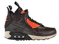 """Кроссовки Nike Air Max 90 SneakerBoot """"Velvet Brown/Hyper Crimson"""" Арт. 0638"""