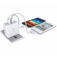 Сетевое Зарядное Устройство LDNIO 2.4A+2 USB Micro USB