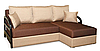 Угловой диван Коста с деревяными подлокотниками