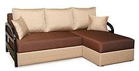 Угловой диван Коста с деревяными подлокотниками, фото 1