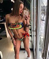 Нереально красивый женский купальник Бондо с пайеткой-хамелеон