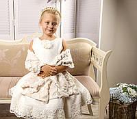Эксклюзивное дизайнерское нарядное платье с шалью