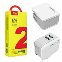 Сетевое зарядное LDNIO A2203 2.4A / 2 USB + кабель microUSB