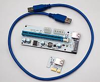 43f334035e68 Райзер Sata 6 Pin Molex v008S USB 3.0 PCI-E 1X - 16X Riser для