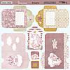Scrapmir Набор лист конвертов двусторонний Unicorns 20х20см