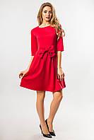 Красное платье с бантом, фото 1
