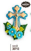 """Хрестик з квітами """"Синій"""""""