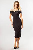 Черное платье на бретелях, фото 1