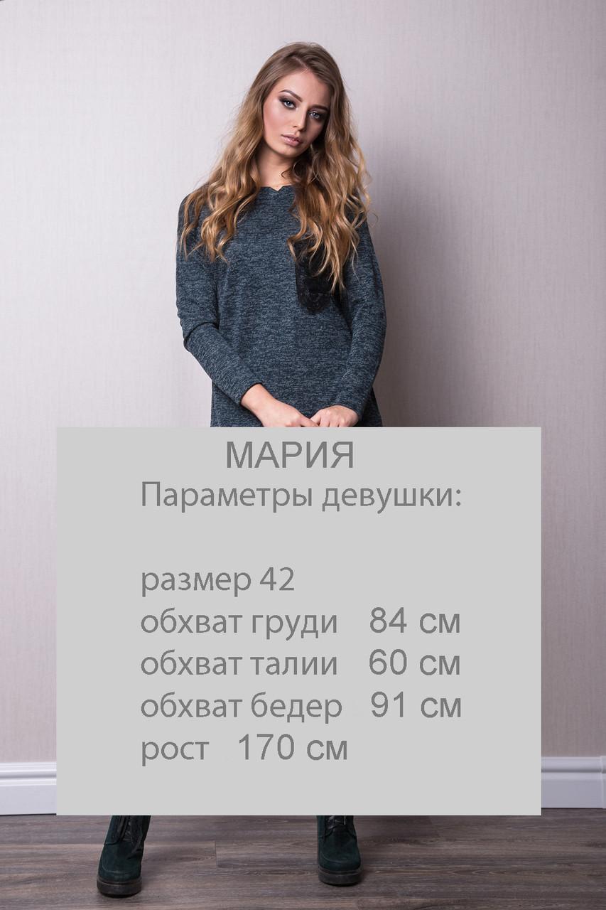 cd7236c3414 ... Стильное платье-туника цвета бутыль