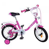 Велосипед детский profi 14 д. y1482  flower малиновый kk