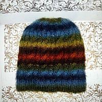 Зимняя шапочка детская разноцветная, р-р 50-52, фото 1