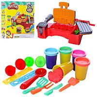 Пластилин Набор для детской лепки (детского творчества) Барбекю аппарат, формочки, инструменты, копия Плей Ду