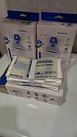 Комплект мешков для сбора пыли пылесоса Zelmer 49.4020, ZVCA100B, 49.4000 синий-4 шт