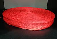 Тесьма для сумок и ремней 2.5 см (100 м) красная