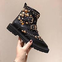 Кожаные ботинки с аксессуарами Burberry