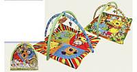 Коврик для малышей с погремушками в сумке 61 х 50см 898-307b/308b кк