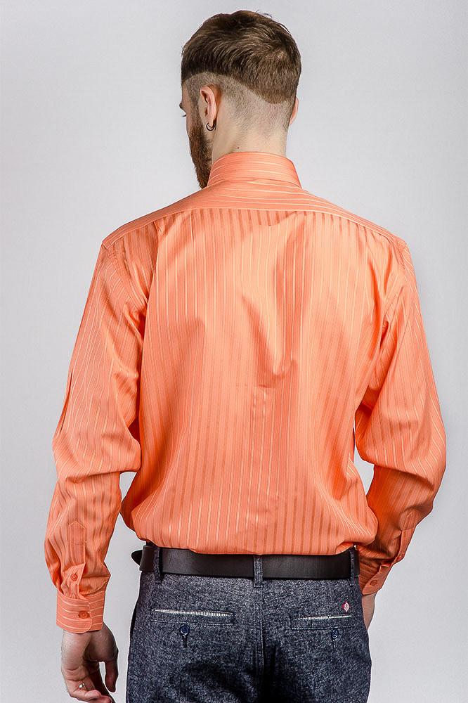 6d93a636019e493 Рубашка Мужская Яркая Fra №871-16 (Апельсиновый) — в Категории ...